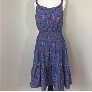 GAP sundress purple with floral print size M